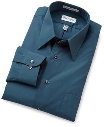Van Heusen Men's Regular Fit Poplin Dress Shirt, Teal, 15.5 32-33