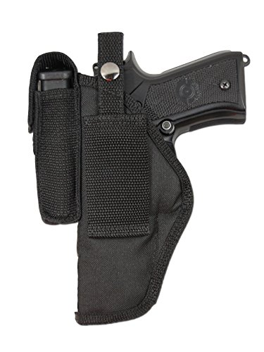 Barsony New Gun Concealment Belt Loop Holster w/Magazine Pouch for COLT DOUBLE EAGLE GOVT right