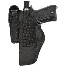 Barsony New Belt Loop OWB Holster w/Magazine Pouch for Full Size 9mm .40 .45 Pistols