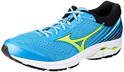 Mizuno Australia Men's Wave Rider 22 Running Shoes, Azure Blue/Sharp Green/Black, 7 US