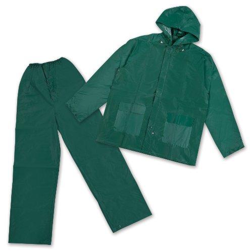 Stansport Men's PVC Rainsuit with Hood, Green, ()