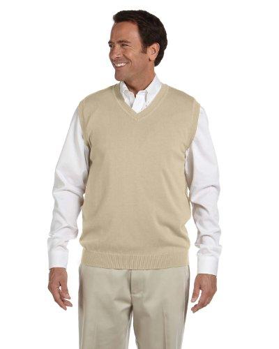 Blue Ocean Solid Color Sweater Vest-X-Large