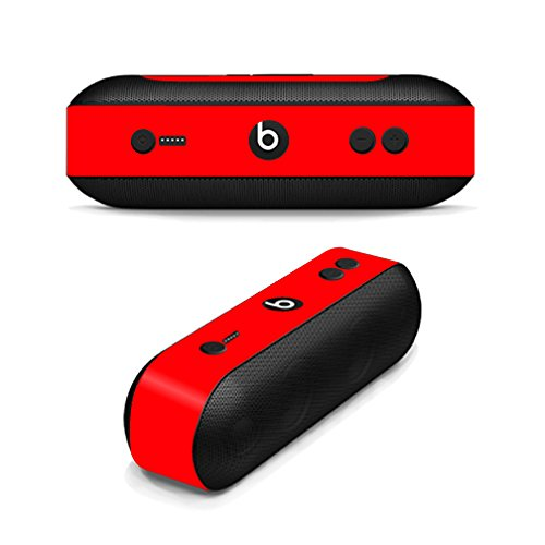 MightySkins Protective Vinyl Skin Decal for Beats By Dr. Dre Beats Pill Plus wrap cover sticker skins Solid Red
