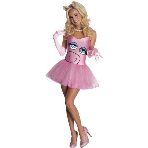 Secret Wishes  The Muppets Miss Piggy Costume Dress, Pink, (Muppets Miss Piggy Costume)