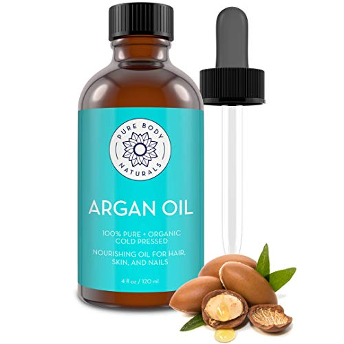 Pure Body Naturals Organic Argan Oil for Skin, Face, Hair & Nails, 4 fl. oz.