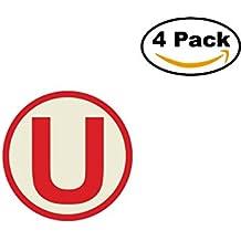 universitario de deportes 4 Stickers 4x4 Inches Car Bumper Window Sticker Decal
