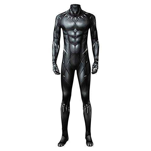 Boomtrader Black Muscle Battle Suit Costume Halloween Cosplay Costume Black Jumpsuit ()