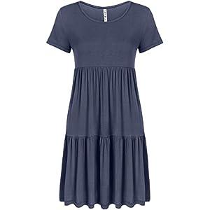 Casual Tiered T Shirt Dresses for Women Summer Sundress – USA