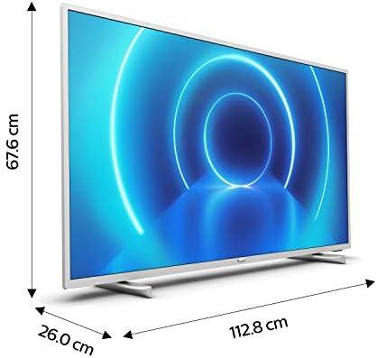 Televisor 4K UHD Philips 50PUS7555/12 de 126 cm (50 pulgadas) (4K UHD, P5 Perfect Picture Engine, Dolby Vision, Dolby Atmos, HDR 10+, Saphi Smart TV, HDMI, USB), color plata (modelo de 2020/2021): Amazon.es: Electrónica