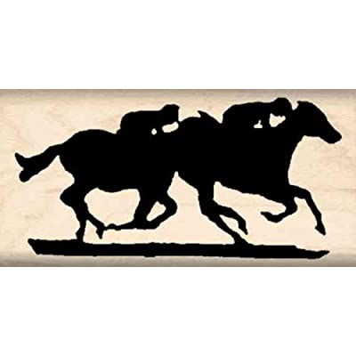 Stamps by Impression Horse Race Rubber Stamp: Arts, Crafts & Sewing