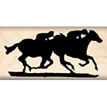 Horse Race Rubber Stamp – 1 inch x 2 inches