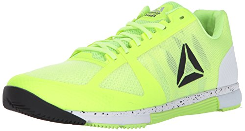 Reebok Men's Crossfit Speed TR 2.0 Cross-Trainer Shoe, Electric Flash/White/Black/Silver, 8 M US