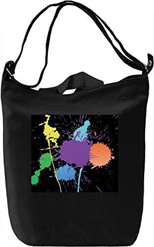 Colorful Bubbles Pattren Borsa Giornaliera Canvas Canvas Day Bag| 100% Premium Cotton Canvas| DTG Printing|