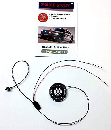 - Police Siren for Diecast and R/C Emergency Vehicles - 4 Real Sounds from an In-Service Police Cruiser - Runs on 9 Volt Battery