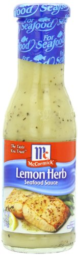 McCormick Golden Dipt Lemon Herb Seafood Sauce, 7.8 oz (Case of 6)