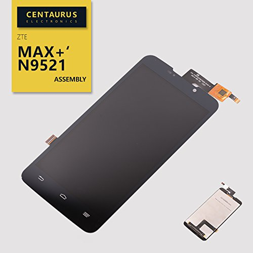 New Black Frame Full Assembly Touch Screen Digitizer LCD Display Combo for ZTE N9521 Boost Mobile Max Plus Max+ Cell Phones Parts (No Frame) (Lcd Screen For Boost Max)