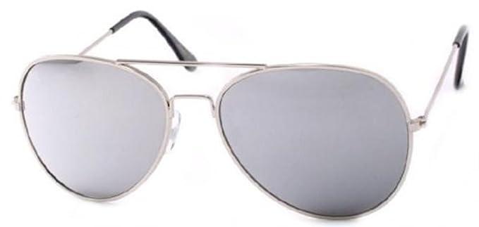 Aviator Sunglasses Air Force Style Silver Frames 5d22d088210