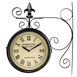 Black Dual Face Paddington Station Clock