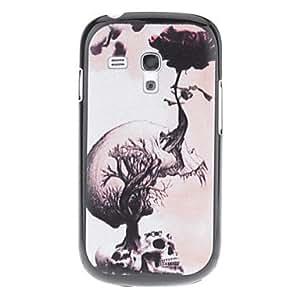 TY-Skull Pattern Funda flor creciente dura para Samsung Galaxy S3 I8190 Mini