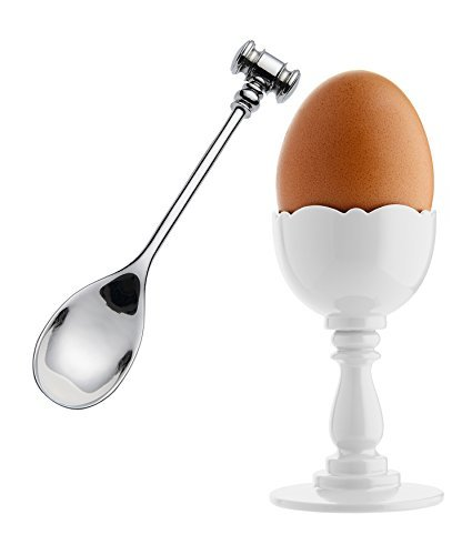 Alessi Dressed Egg Cup in Thermoplastic Resin And Spoon With