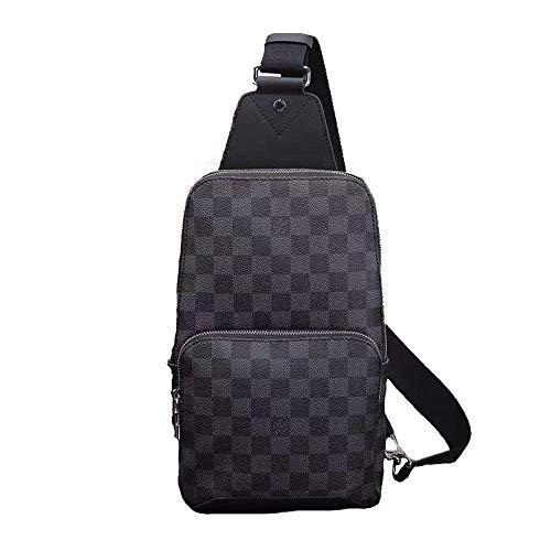 YDFBH Men's Shoulder Bag Printed Chest Bag Messenger Bag N417192 ()