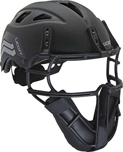 Worth Legit Softball Pitcher's Mask, Black (Pitchers Mask)