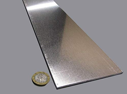 JumpingBolt 1100 Aluminum Bar Softened (O) .125'' (.125'') Thick x 4.0'' Wide x 24'' Long Material May Have Surface Scratches