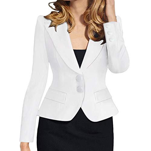 Sttech1 Ladies Suit Collar Retro Single-Breasted Slim Fit Solid Color Small Suit Jacket