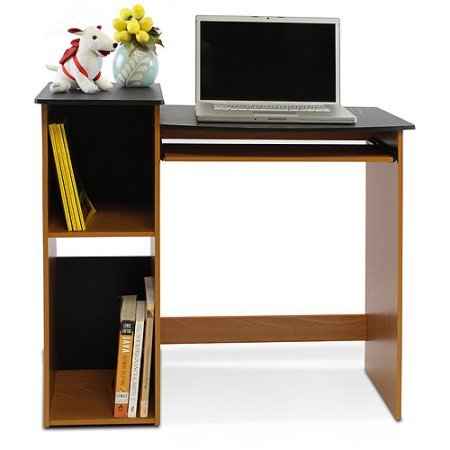 Versatile Multipurpose Computer Writing Desk, Adding Function to Your Home Office, Offers Space for a Desktop Computer or Laptop as Well as Storage, Compact Enough to Use Anywhere + Expert Guide by eCom Rocket