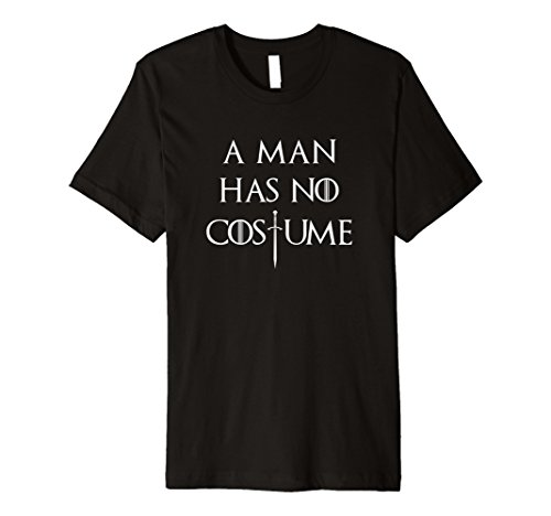 Mens A Man Has No Costume Sword Fitted Shirt 2XL Black (Clever Easy Halloween Costumes Guys)