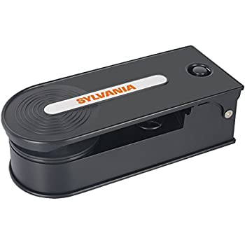 Sylvania Turntable Record Player with USB Encoding, Black