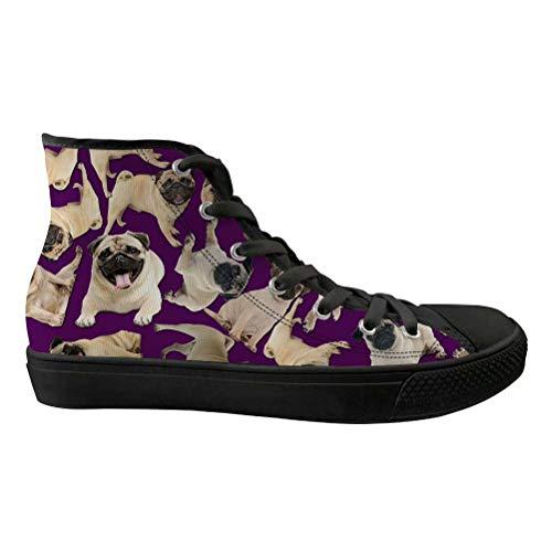 Femme Purple black Chaqlin Compensées Sandales pug qEgOOTw