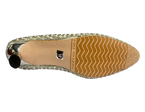 Sandalias Style para de plateado vestir Step n plata mujer A4qHU