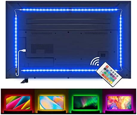 LED Strip Lights, Lampee 6.6ft TV Backlight RGB Strip USB Powered for 32-60'' TV, Living Room Decor, PC Monitor with RF Remote Control [Energy Class A+]