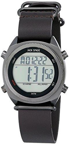 Jack Spade Men's WURU0224 Digital Display Watch with Brown Leather Band (Jack Spade Watch)