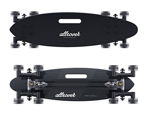 Allrover Stair-Rover Longboard – Perfect Skateboard for City Surfing over any Obstacle