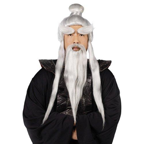 Sensei Wig, Beard & Brows Set Costume Accessory (Sensei Halloween Costume)