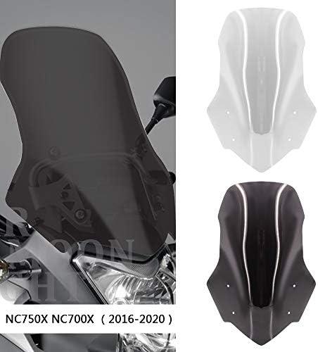 Motorrad Zubehör Bildschirmwindschutzscheibe Verkleidung Windschutzscheibe Motocross Sport Windschutzscheibe For Honda Nc700x Nc750x Nc 750 700 X 2016 2020 2019 2018 2017 2016 Color Smoky Gray Auto