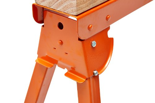 All Steel Folding Sawhorse - Pair BORA Portamate PM-3300T. TWO 33-Inch Tall Fold-up Heavy Duty Saw Horses. Fully Assembled, 1,000lb. Capacity (500lbs. each) and Quickly Folds Up for Easy Storage by PortaMate (Image #6)