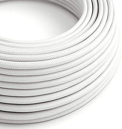 Farbe Baumwolle schwarz-weiß 3 adrig 3 x 1,5 mm² rund Stoffkabel Textilkabel