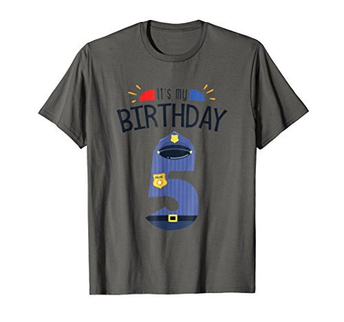 5th Birthday - 5 Year Old Boys Police Officer Cop -