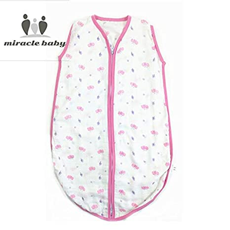 Amazon.com: Baby Sleeping Bag Sleeveless Bamboo Cotton Muslin Gauze Vest Sleepsacks Spring Summer Autumn 80cm Length for 12-18 Months Baby: Sports & ...