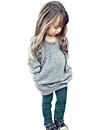 Toddler Girls Clothes Winter Warm Long Sleeve Tops+Long Pants Set