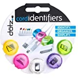 Dotz Cord Identifiers, Cord and Cable Management for Home and Office, 5 Count, Pastel Colors (DCI101CO-CP) by Dotz [並行輸入品]