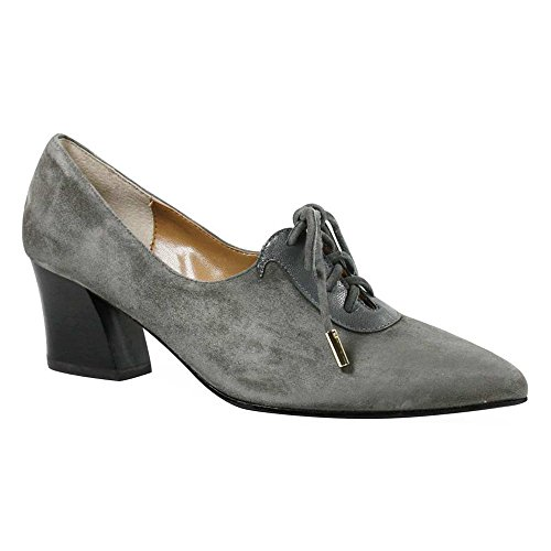 J. Renee Ellam Womens Oxford In Pelle Grigio Scuro