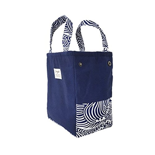 Luncheon Carryall Suitcase - Capacity Insulated Cooler Tote Bag Woman Travel Picnic Handbag Storage Container - Tug Pocket Pocketbook Holdall Bagful Tiffin Udder Cup Tea - 1PCs by Unknown (Image #2)