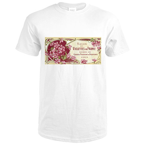 Violettes De Parme Perfume Label (Premium White T-Shirt X-Large) 2310 Label