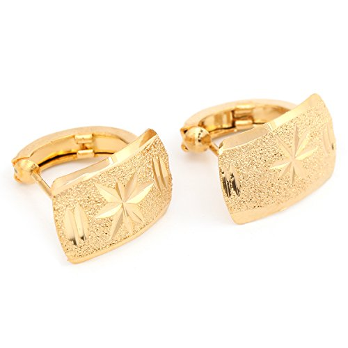 24K Gold Plated Filigree Diamond Cut Style African Jewelry Ethiopian Earring(Style - 24k Earrings Chain