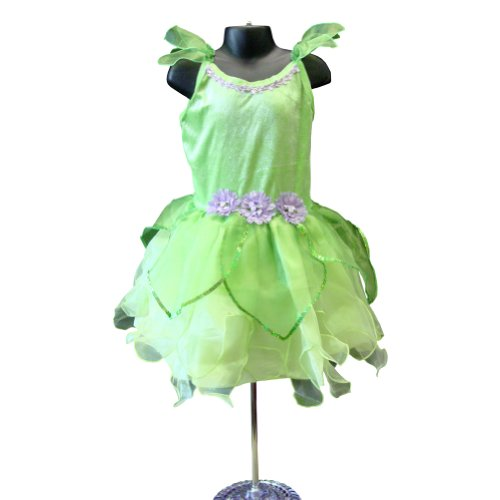 Girls Deluxe Tinkerbelle Quality Dress Up Costume -