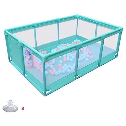 CHAXIA ベビーサークル 赤ちゃん の柵 こども遊園地 ホーム 活動センター オックスフォードメッシュ 衝突防止 フェンス、 利用できる2色 (色 : 青, サイズ さいず : 190x128x66cm) 190x128x66cm 青 B07R29W5PC